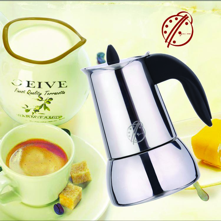 304# stainless steel coffee maker/moka pot for induction