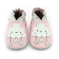 Wholesale Winter Soft Genuine Leather Rubber Sole Prewalker Boy Moccasins Girls Baby Shoes