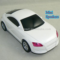 The Most Cool White A8 Car Model Speakers mini FM music car speaker with TF/USB/FM Radio
