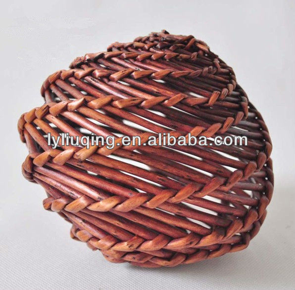 colorful wicker willow ball for home decoration/christamas decor
