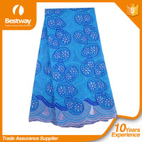 High quality 100% cotton swiss voile lace/african voile lace fabricsSL0362 for dressing