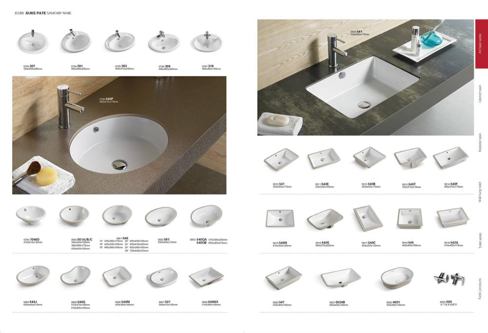 PATE ceramic square bathroom under marble stone sink with CE certification under counter basin