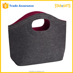 Superb Hot Selling Fancy Sturdy Felt Tote Trendy Book Bag