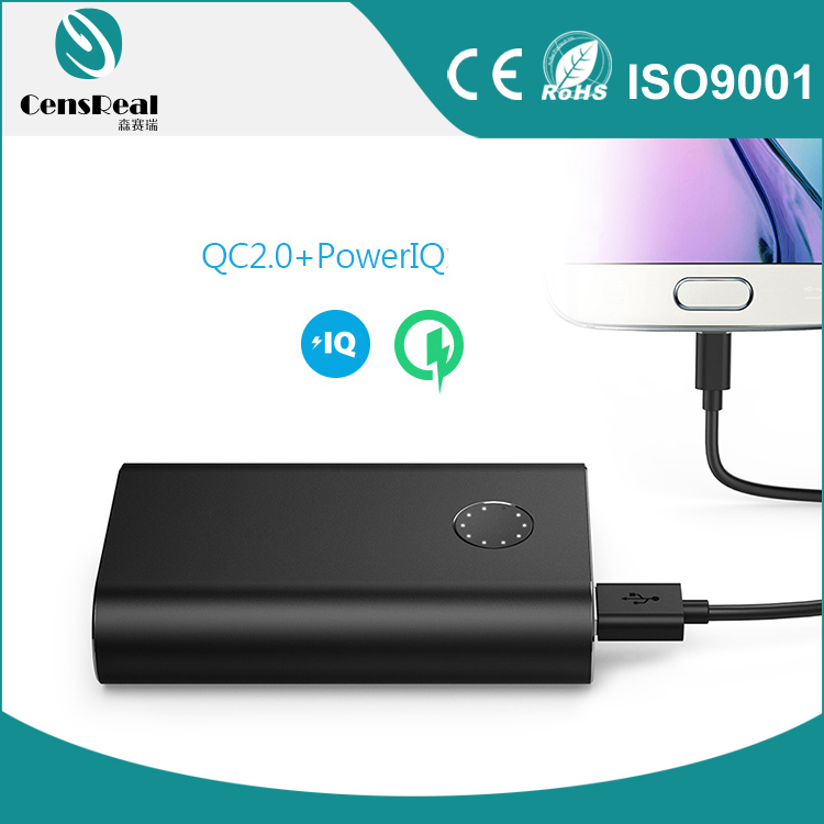 2017 New Quick charger 2.0 fast charging portable power bank 5V 2.1A 9V 2A 12V 1.5A 10050mAh