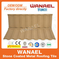 Factory sale Classical Freeze-resistance colorful stone chips coated/kerala ceramic roof tile,Wanael China supplier