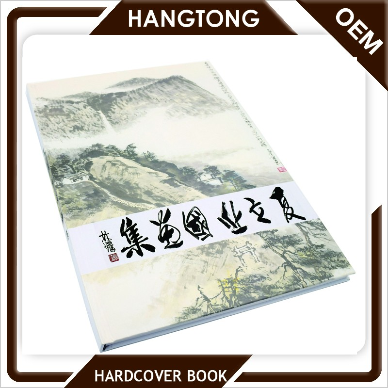 Most popular matt lamination coated paper custom hardcover books printing