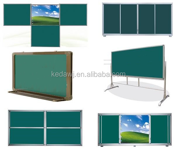 Dustless Sliding magnetic School classroom green board
