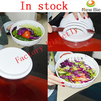 Plastic Fruit&Vegetable chopper 60 second salad cutter bowl