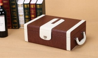 Wine Box Packaging Shipping Box With Handle Wine Gift Box