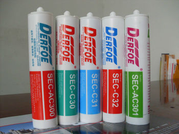 glass glue glass silicone sealant, neutural and acid cure