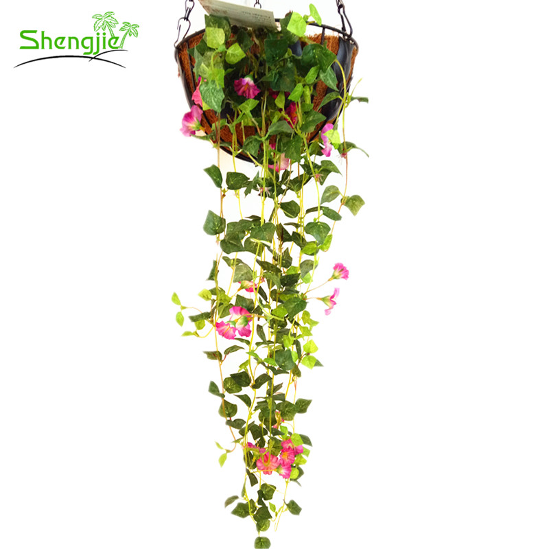Cheap price home decorative hanging artificial silk rose vine flowers ivy