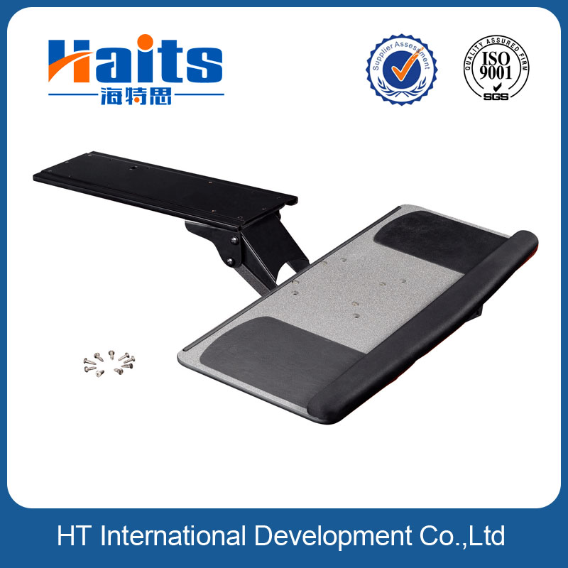 Height left right Adjustable folding keyboard tray