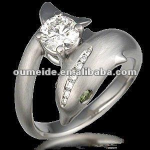Oemodm Metal Factory Novel And Vivid Dolphin Wedding Rings Buy