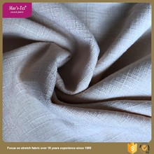 slub woven elastic polyester spandex stretch fabric for woman dress