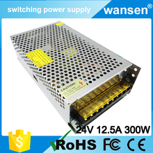 S-300-24 CE approved ac-dc 300w power supply 24v 12.5a switching power supply