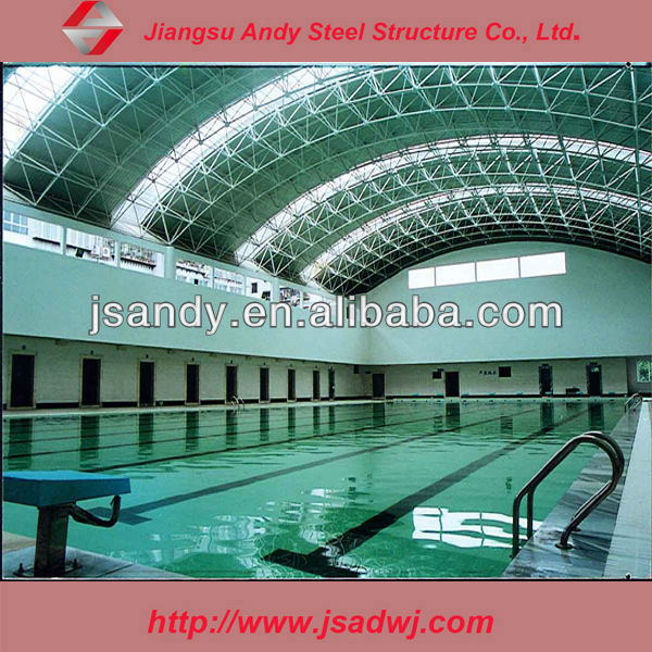 Marvellous steel roof of swimming pool