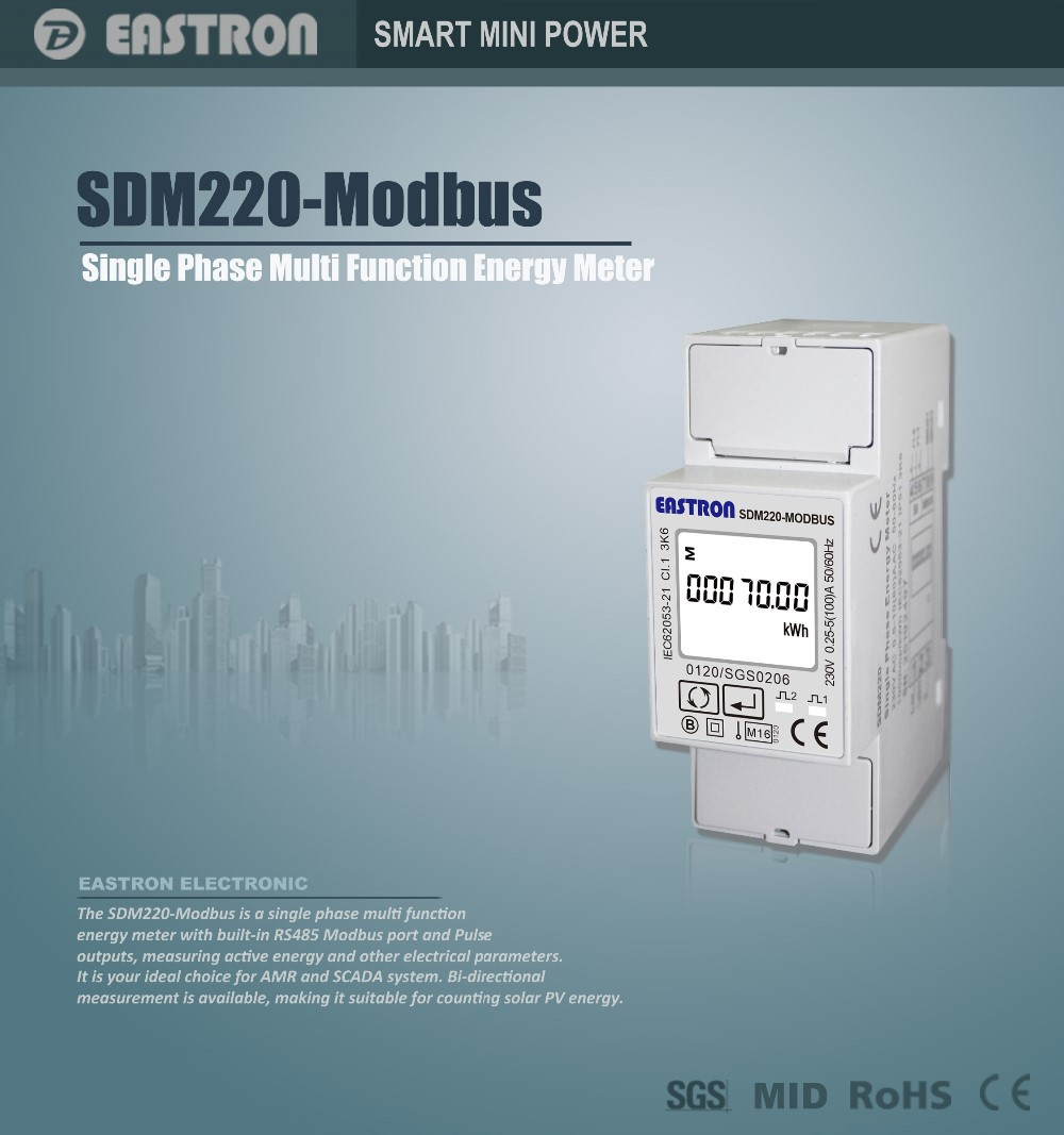 Nz Single Phase Smart Meter : Sdm modbus single phase electric kilowatt hour meter