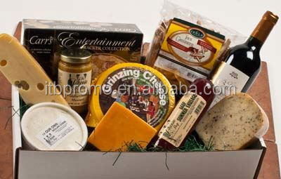 popular design cheese and wine gift baskets