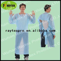 disposable CPE gown with thumb loops