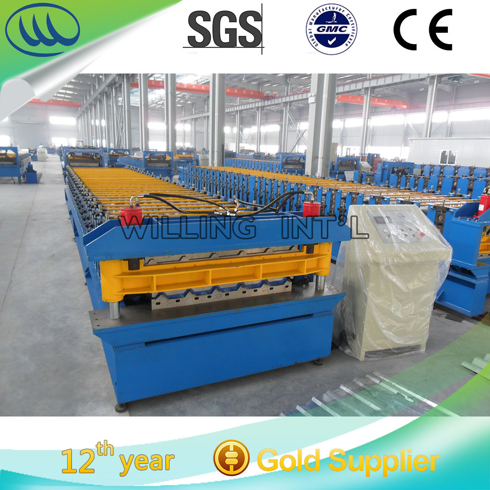 roof panel step corrugated tile roll forming machine price double layer steel roof and wall sheet roller machine