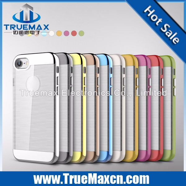 Wholesale Price for iPhone 7 TPU PC Wire Drawing Two In One Case