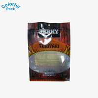 transparent three heat seal packaging vacumm for beef jerky and cheese and other produc/vacuum bags for chicken,jerky,pork,meal.
