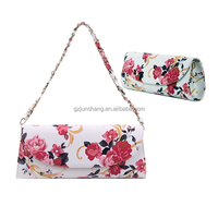 Flower design bags leather also can use for purse , very fashion