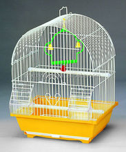 orange color small bird cage case parrot wire house