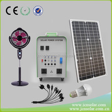mobile home all in one solar panel system with 8 led lights and mobile phone charger 200W solar panel