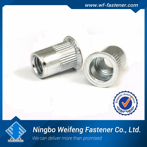 m6 countersunk head knurled body 304 stainless blind rivet nut,rivet nut