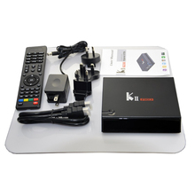 Wholesale uhd 4k 3d 4k satellite receiver KII Pro dvb t2 dvb s2 combo 2GB/16GB Amlogic S905 CPU dual band wifi