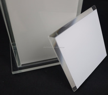 polish edge tempered led light panel glass