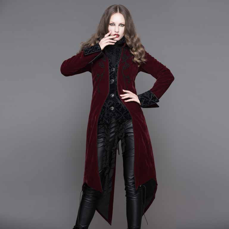 formal gown gothic swallow tail coats women long dress coats