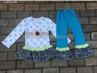 Whosales Baby clothes New polk dot Fall Knitted outfit long top and pant set