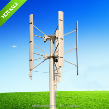 China 1.5KW vertical axis wind turbine H type wind power generator