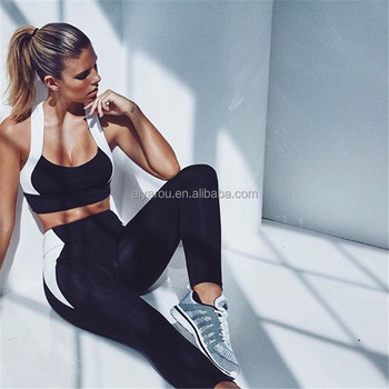 New Fashion Women Yoga Suit, womens running clothes bodycon tights crop sport training suit