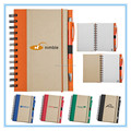 Recycle brown kraft paper cover spiral notebook with custom LOGO printing