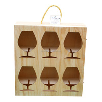 Vintage feature and wine industrial use wooden wine boxes, boxes for wine glasses