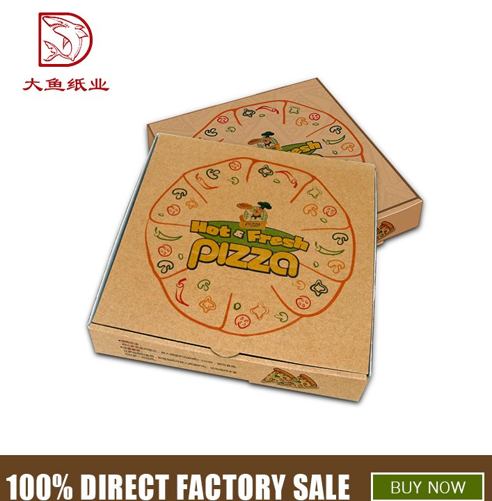 China custom logo personalized corrugated pizza packaging box