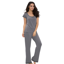 Custom Design Wholesale Sleeping Wear Set Bamboo Women Pajamas