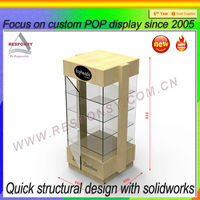 Customized counter wooden acrylic lockable countertop display case