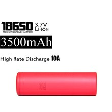 High drain 3500mah 10A 18650 batteries Sanyo NCR18650GA 3.7V 18650 li ion battery cell
