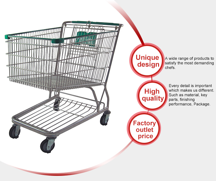 Top Quality American Style Supermarket Shopping Trolley