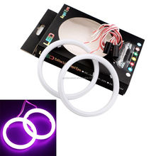 Pink Color 80MM 3020 25 LED Halo Rings Angel Eyes Car Headlight DRL Light