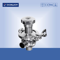 sanitary SS304 and SS316L stainless steel radial diaphragm valve for biotech cometic health care food and pharmacy