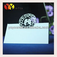 "customizable seat cards Laser Cut ""love birds""Table Place Card for wedding party wholesale and retail"