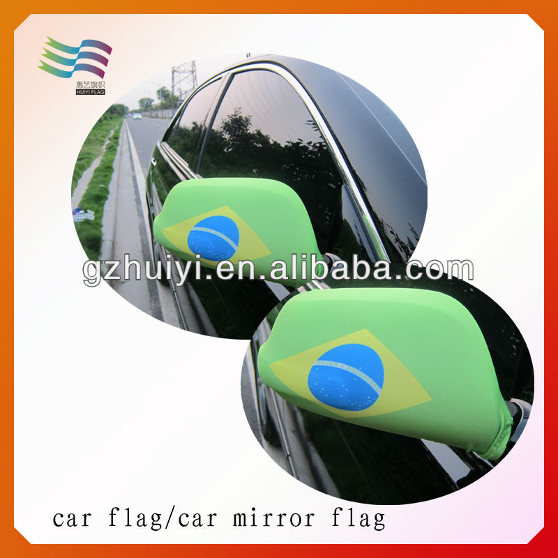 World Cup 2014 Polyester Brazil Car Mirror Cover Flag