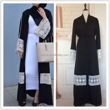 Fashionable unique dress morrocan embroided abaya muslim women casual evening dress