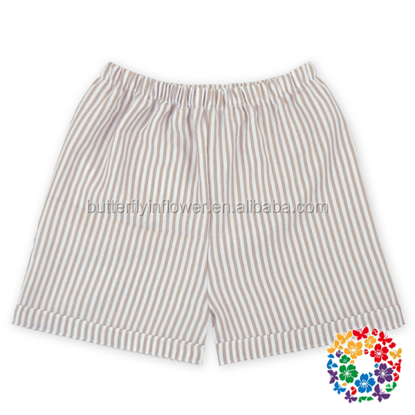 New seersucker bubble shorts ,high elastic waist kids woven shorts kids baby bloomers