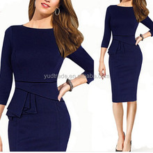 2015High quality New Women's Elegant Celeb Bodycon Ladies Pencil Evening Slim Cocktail Dress Celebrity Inspired Dress